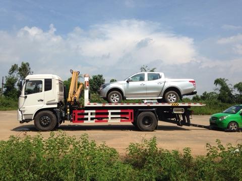 xe cứu hộ giao thông 3 chức năng Dongfeng cẩu gập 5 Tấn
