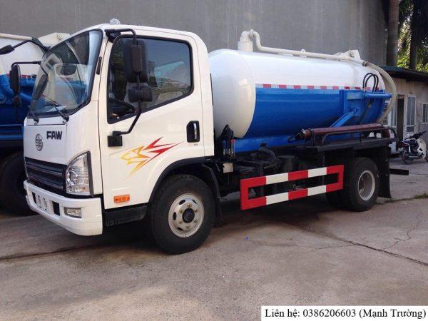 Xe hút chất thải Faw 5 khối nhập khẩu