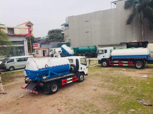 Xe hút chất thải Faw nhập khẩu