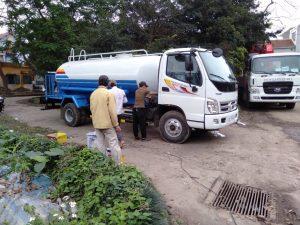 xe phun nước rửa đường tưới cây thaco olin 700c 8 khối