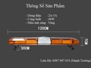 kích thước của bộ đèn cứu hộ