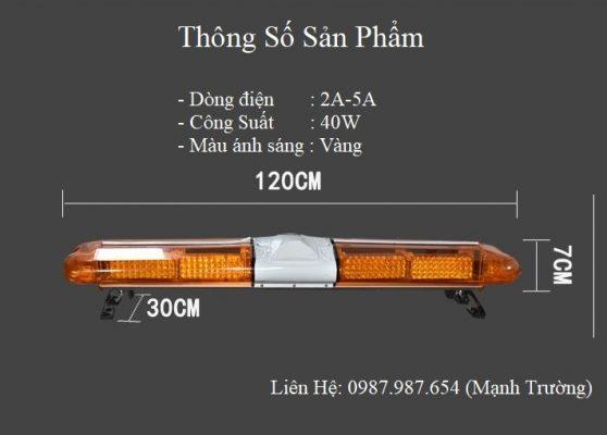 kích thước của bộ đèn